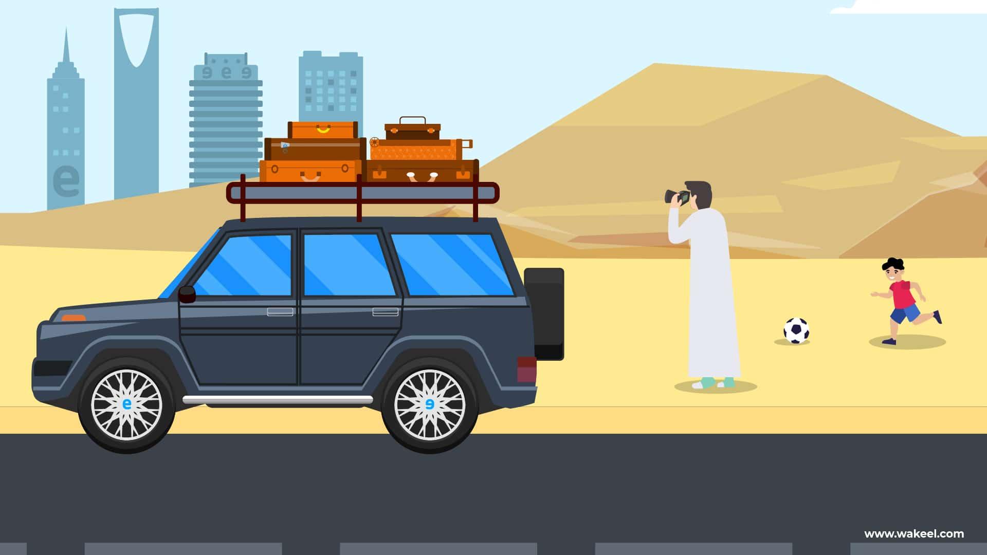 جاهزية سيارتك لرحلة برية في السعودية