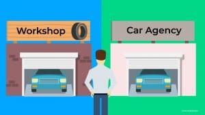 "Car Insurance Add-on ""Agency Repair vs. Workshop Repair"""